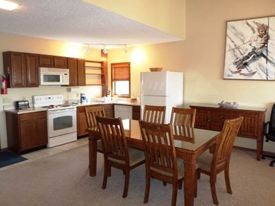 Photo for Comfortable ski-in/ski-out condo with loft that sleeps four and indoor hot tub