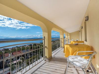 Photo for Three bedroom apartment with terrace and sea view Dramalj (Crikvenica)