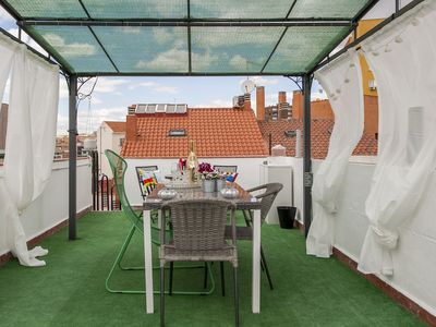 Photo for IMPRESSIVE DUPLEX NEAR ATOCHA WITH HUGE GARDEN CHILL OUT FOR 10 PAX