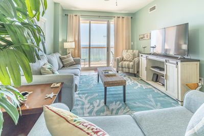 Flat screen or balcony view? What a choice!