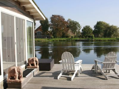 Photo for Large houseboat near Amsterdam with fantastic views and 2 bikes!