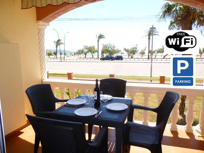 Photo for Apart-Rent-Apartment in front of the beach with wifi (0016)