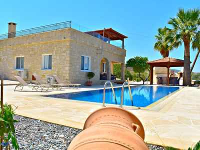 Photo for Oustanding Sea Views -Argaka -Stunning 3 Bed Bungalow -Heated Infnity pool -Wifi