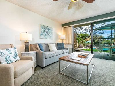 Photo for Walk to the Beach from this one bedroom garden view condo at Maui Vista in South Kihei. #3111