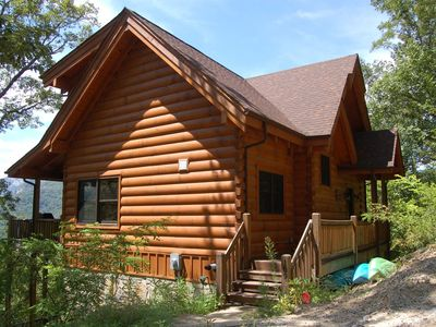 Photo for New to HomeAway/VRBO - Spacious Cabin With Fantastic Long Range Mountain and Lake Views - Lake Lure