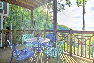 Lounge on the furnished deck for a breath of fresh air.