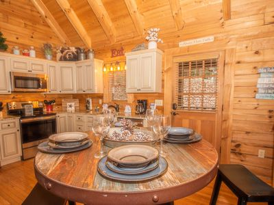 Photo for Bear Mtn Cabin ~  Cozy gem with wood-burning Fireplace, 6 miles to Pigeon Forge, WiFi and Hot Tub