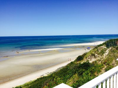 Photo for GORGEOUS BEACHFRONT HOME -in DENNIS - Private Beach  -2 large decks /AC