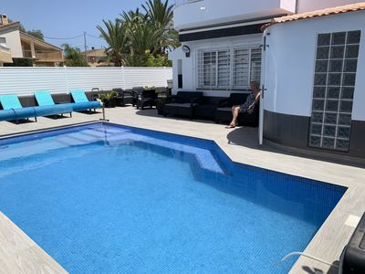 Photo for LUXURY  4 BED  HOUSE  WITH   HEATED  7 X 4   SALTWATER  POOL   ( NO CHLORINE )