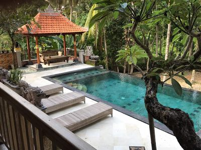 Photo for 3 BR Jungle View Villa in Ubud, Only 15 Minutes from Ubud Center