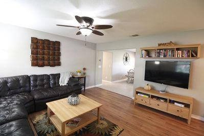 Living area, opens to dining room, plenty of space to relax!