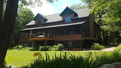 Charming Lake Lodge / Private Bar On 5500 Acre Woman Lake Chain, Include Pontoon