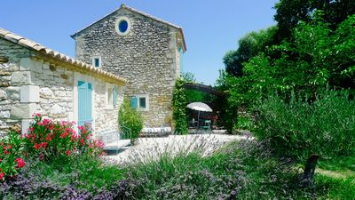 Photo for Charming Mazet with swimming pool, facing the Château de Grignan