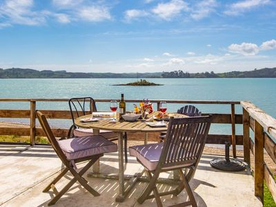 Photo for Stunning Oceanfront Beach House - Raglan Holiday Home