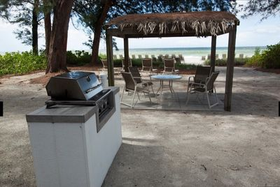 gas grills available by the beach