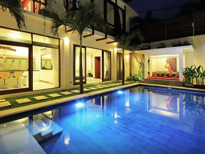 Photo for Luxury 4 Bedroom 4 bath Villa w/ Large Living Room & Pool in Heart of Seminyak