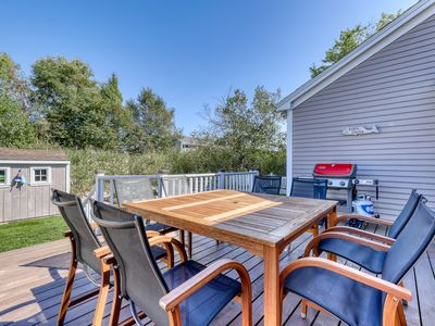 Photo for Airy home w/ 2 tandem kayaks, patio & firepit - 500 feet from Gooch's Beach!