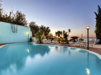 Photo for Villa Bianca 1 with Private Swimming Pool, Sea View, Terraces, Parking and Barbecue