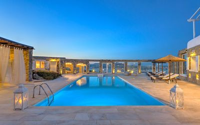 Photo for Villa Grande Mykonos, a 5-bedroom luxury villa in Ornos up to 12 Guests