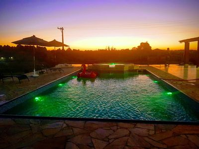 Photo for Beautiful sunset farm with large pool