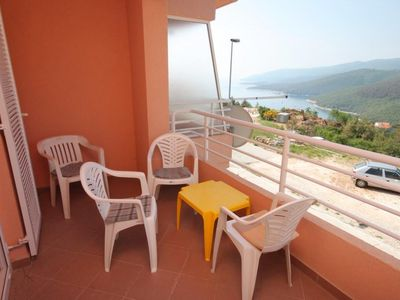 Photo for One bedroom apartment with terrace and sea view Rabac, Labin (A-7644-a)