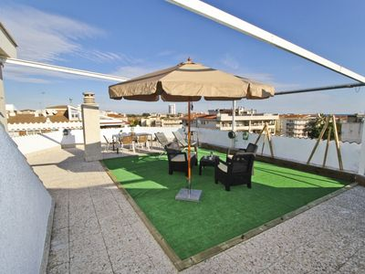 Photo for ALBA with terrace and barbecue area, beach at 200m