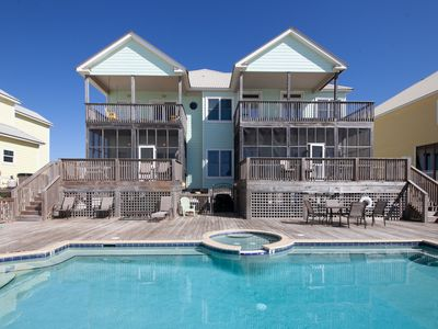 Photo for Fall/Winter Discounted Rate! Beautiful Home, Sleeps 20, Private Pool, on Beach