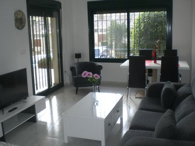 Photo for Spacious luxury 2 bedroom ground floor apartment, Campoamor Golf Apartments
