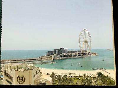 Photo for ★ Ocean-Facing Apt in JBR | Walk to the Beach!