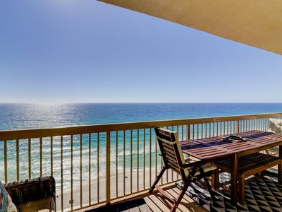Photo for Gorgeous, 16th-floor, beachfront condo w/ shared pools, gym, & business center