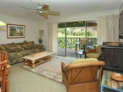 Photo for Ocean & Tropical Garden View at a Beach Front Property-Kihei Kai Unit 13