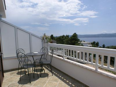 Photo for One bedroom apartment with terrace and sea view Balića Rat (Omiš)