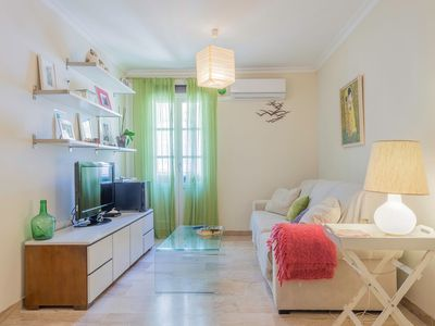 Photo for Elegant Apartment with Air Conditioning, Wi-Fi, Balconies and Central Location