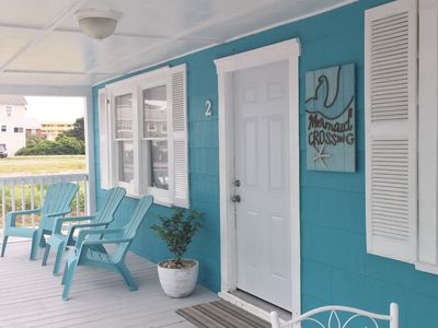 Photo for This first floor unit/second row home sits just across the street from a beach!