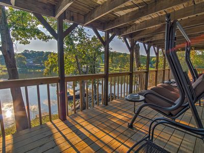 Photo for NEW! Lakefront 2BR Warsaw Home w/ Private Dock!