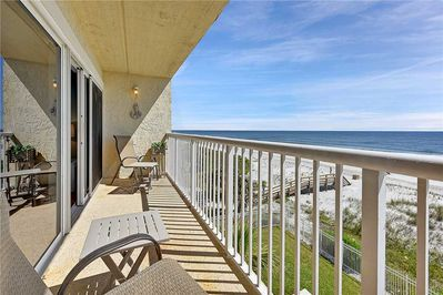 Easy Living - Take a moment for yourself during your vacation to sit in one of our balcony chairs and breathe in deeply of the fresh salty sea air with a cool beverage in hand.