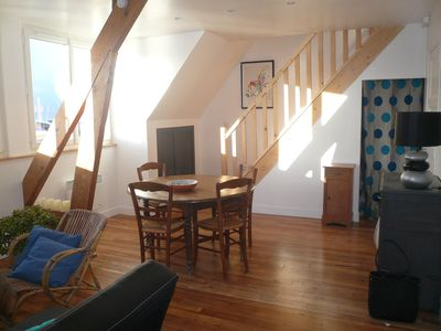 Photo for Apartment with harbor and sea view, not overlooked, bright, sunny, comfortable