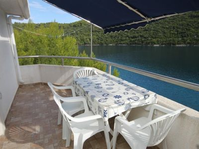 Photo for One bedroom apartment near beach Pasadur, Lastovo (A-8386-b)