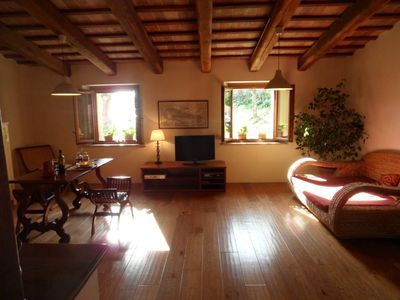 Photo for Paglia e Mare, a cozy part of a farmhouse between hills and sea