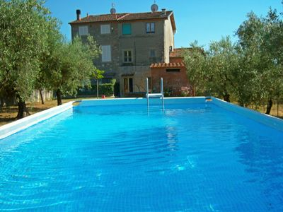 Photo for Huge PANORAMIC house in the Lucca hills. Oliveyard + swimming pool. Free WiFi