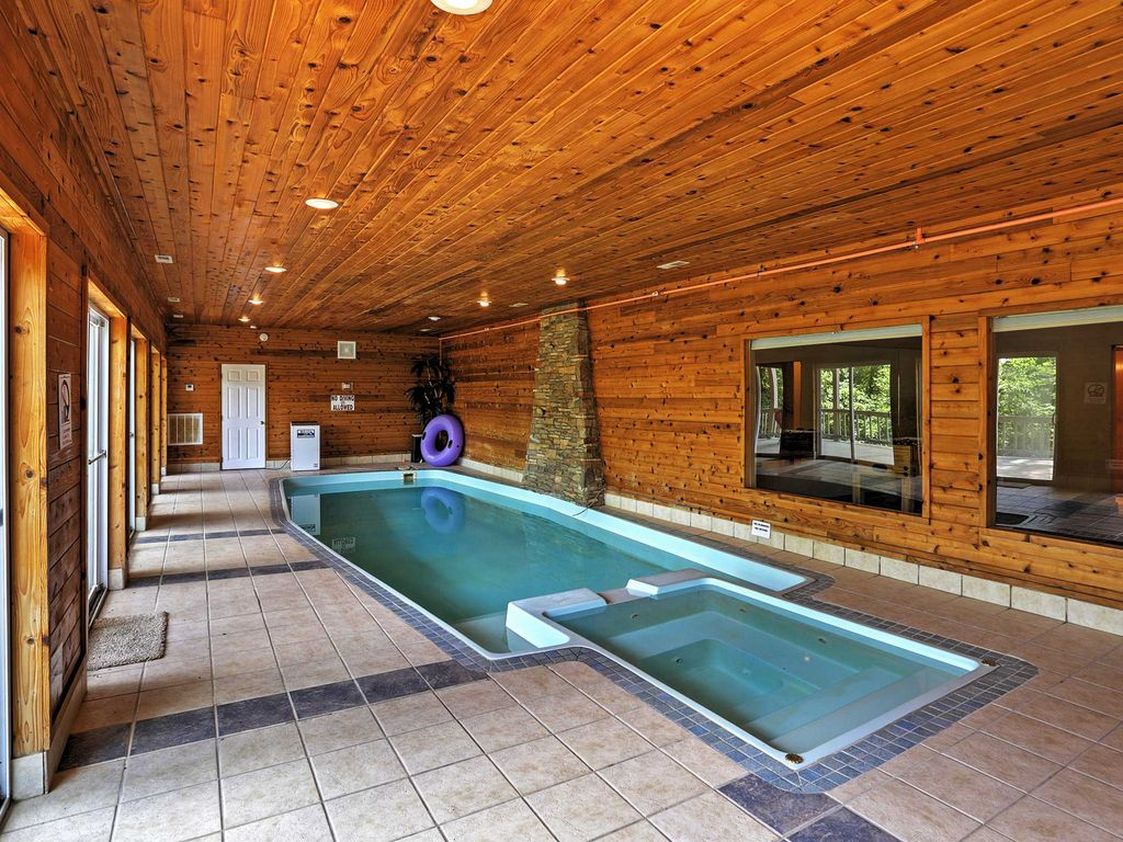 Private indoor pool  4BR Branson House w/Indoor Pool & Basketball... - HomeAway Branson