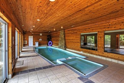 The home features a heated indoor swimming pool perfect for relaxation!