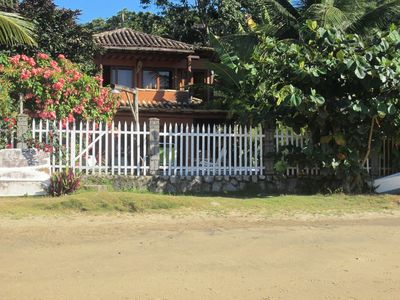 Photo for House of the Arts - Right on beach, 4 suites, swimming pool, BBQ, Wifi - Only 6kms from Paraty centre.