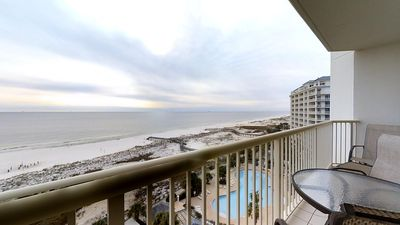 Photo for Gulf View Condo-Living & Master Bedroom Balconies-Clubhouse Amenities!
