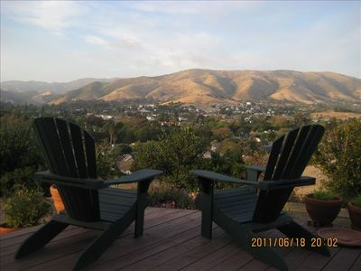 View of Downtown SLO from Deck