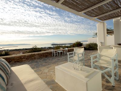 Photo for Near Golden Beach - Villa with private Pool and amazing view to the Aegean