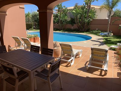 Large Sunny Terrace With Direct Access To The Pool And Gardens