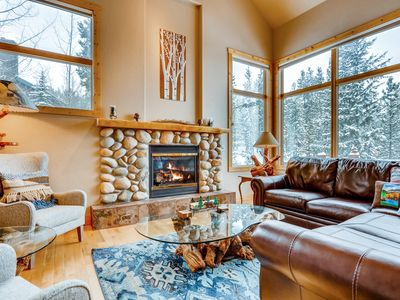 Photo for Upscale 3BR/3.5BA w/ Private Hot Tub & Mountain Views - 3 Miles to Ski Resort