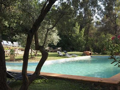 Photo for Provencal manor house & large pool,15 min from Aix-en-Provence, 20 min from sea
