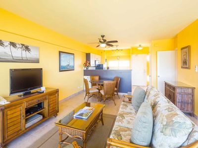 Photo for Suite Paradise! Enjoy fiery sunsets, Free WiFi, Full Kitchen–Waikiki Shore #1008